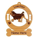 3509 Lowchen Gaiting Ornament Personalized with Your Dog's Name
